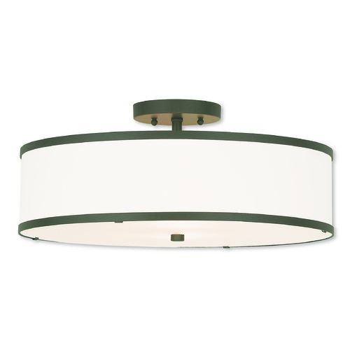 Livex Lighting Livex Lighting Park Ridge Bronze Semi-Flushmount Light 62629-07