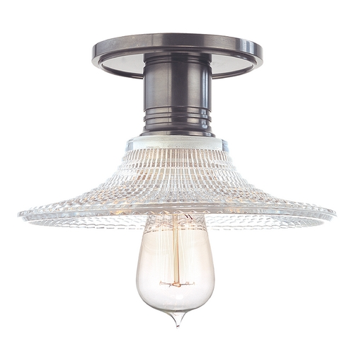 Hudson Valley Lighting Semi-Flushmount Light with Clear Glass in Historic Nickel Finish 8100-HN-GS6