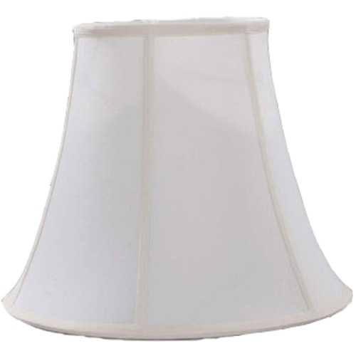 Lite Source Lighting Off-White Bell Lamp Shade with Spider Assembly CH1183-16