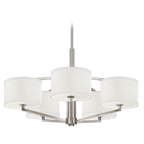 Dolan Designs Lighting Drum Shade Chandelier - Five Lights 1880-09