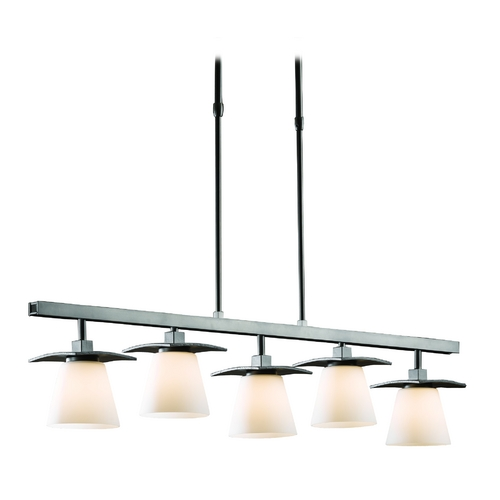 Hubbardton Forge Lighting Linear Pendant Light - Five Lights 136605-07-G242