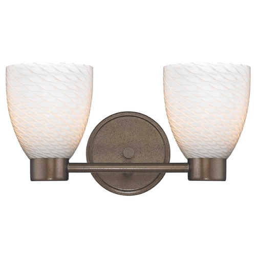 Design Classics Lighting Design Classics Lighting Aon Fuse Heirloom Bronze Bathroom Light 1802-62 GL1020MB