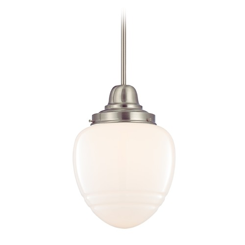 Design Classics Lighting Arden Satin Nickel Mini-Pendant Light with Bowl / Dome Shade FB6-09 / GG10