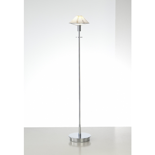Holtkoetter Lighting Holtkoetter Modern Floor Lamp with White Glass in Chrome Finish 6515 CH MRB
