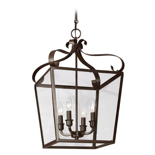 Sea Gull Lighting Sea Gull Lighting Lockheart Heirloom Bronze Pendant Light with Square Shade 5119404-782