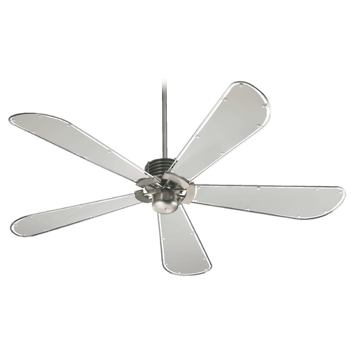 Quorum Lighting Quorum Lighting Dragonfly Satin Nickel Ceiling Fan Without Light 59605-65