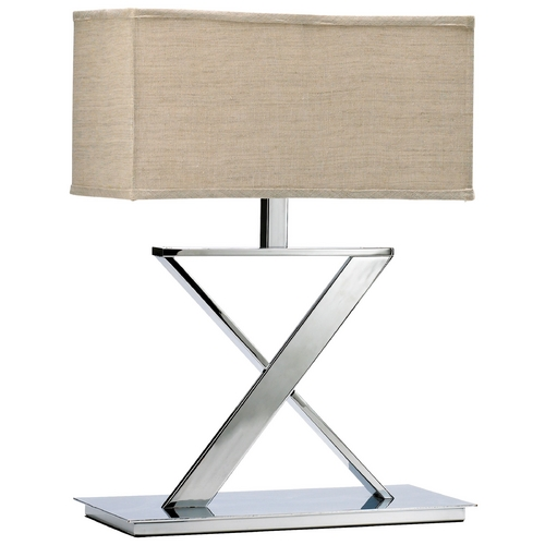 Cyan Design Cyan Design Xacto Chrome Table Lamp with Rectangle Shade 02192