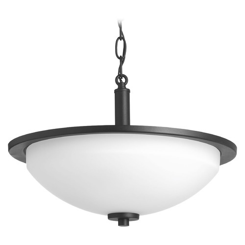 Progress Lighting Progress Lighting Replay Black Semi-Flushmount Light P3424-31