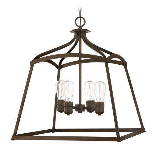 Capital Lighting Capital Lighting Foyer Burnished Bronze Pendant Light 9102BB
