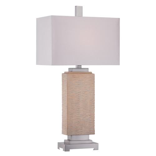 Quoizel Lighting Quoizel Boone Silver Table Lamp with Rectangle Shade CKBO1878T