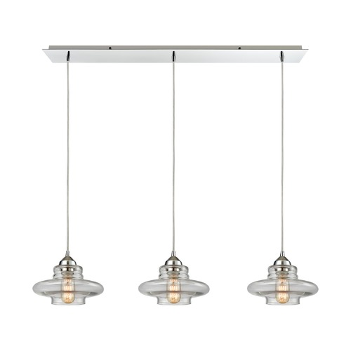 Elk Lighting Elk Lighting Orbital Polished Chrome Multi-Light Pendant 10525/3LP