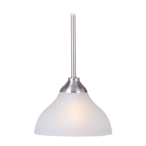Maxim Lighting Mini-Pendant Light with White Glass 92260FTSN