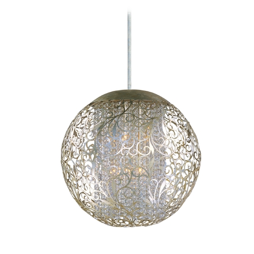 Maxim Lighting Maxim Lighting Arabesque Golden Silver Pendant Light with Oblong Shade 24156BCGS