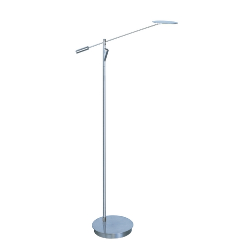 ET2 Lighting Modern LED Floor Lamp in Satin Nickel Finish E41009-SN