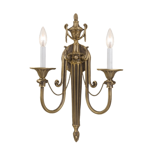 Crystorama Lighting Sconce Wall Light in Roman Bronze Finish 7002-RB