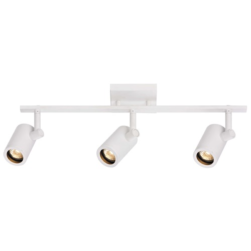Recesso Lighting by Dolan Designs Track Light with 3 Cylinder Spot Lights - White - GU10 Base TR0103-WH