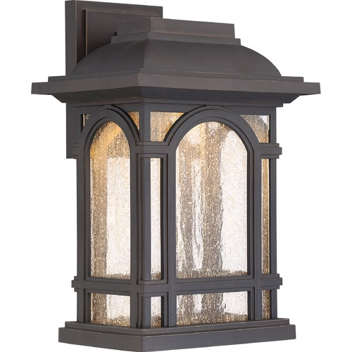 Quoizel Lighting Quoizel Cathedral LED Palladian Bronze Outdoor Wall Light CATL8409PN
