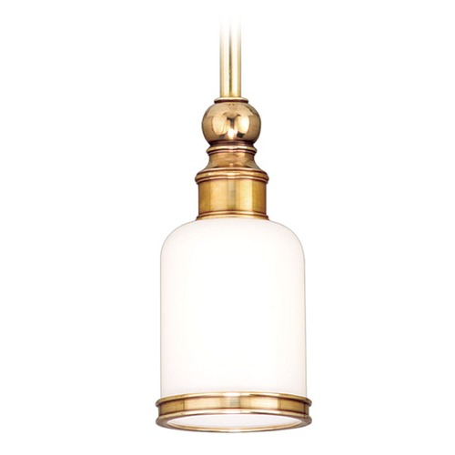 Hudson Valley Lighting Mini-Pendant Light with White Glass 6321-DB