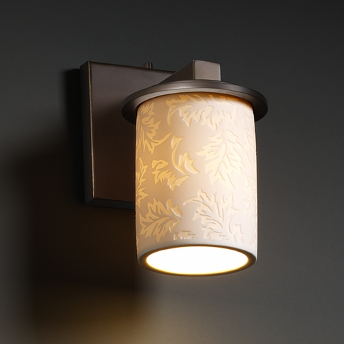 Justice Design Group Justice Design Group Limoges Collection Sconce POR-8771-10-LEAF-DBRZ