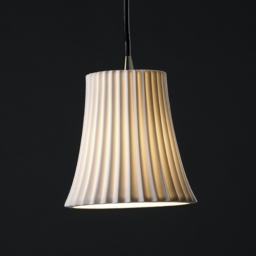 Justice Design Group Justice Design Group Limoges Collection Mini-Pendant Light POR-8815-20-PLET-NCKL