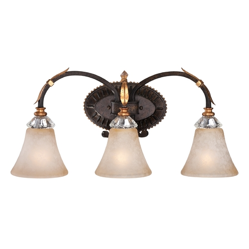 Metropolitan Lighting Bathroom Wall Light in French Bronze with Gold Leaf Finish N2693-258B