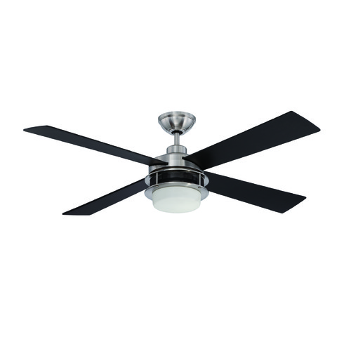 Craftmade Lighting Craftmade Lighting Urban Breeze Brushed Polished Nickel Ceiling Fan with Light UBR52BNK4