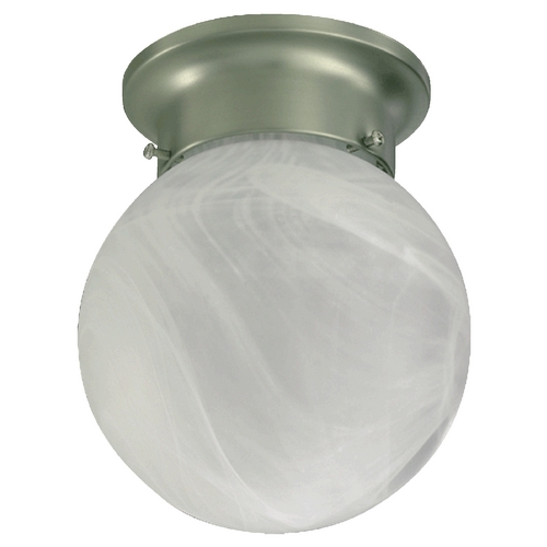 Quorum Lighting Quorum Lighting Satin Nickel Flushmount Light 3304-6-65