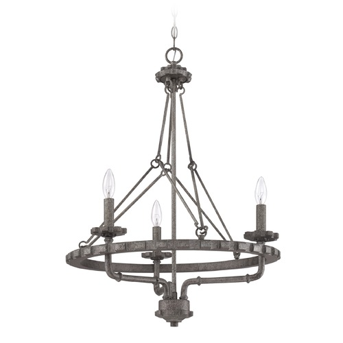 Jeremiah Lighting Jeremiah Lighting Prime Aged Galvanized Pendant Light 38633-AGV