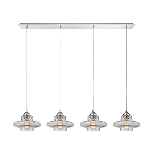 Elk Lighting Elk Lighting Orbital Polished Chrome Multi-Light Pendant 10525/4LP