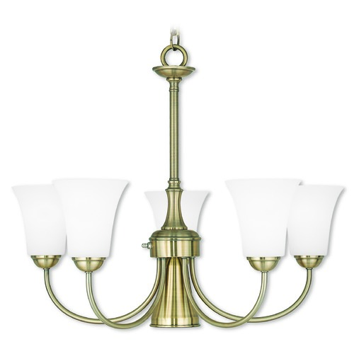 Livex Lighting Livex Lighting Ridgedale Antique Brass Chandelier 6465-01