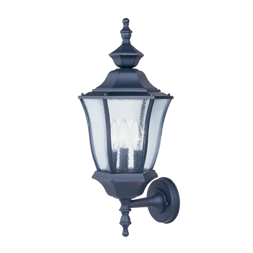 Maxim Lighting Seeded Glass Outdoor Wall Light Black Maxim Lighting 1014BK