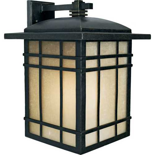 Quoizel Lighting Outdoor Wall Light with Amber Glass in Imperial Bronze Finish HC8413IB