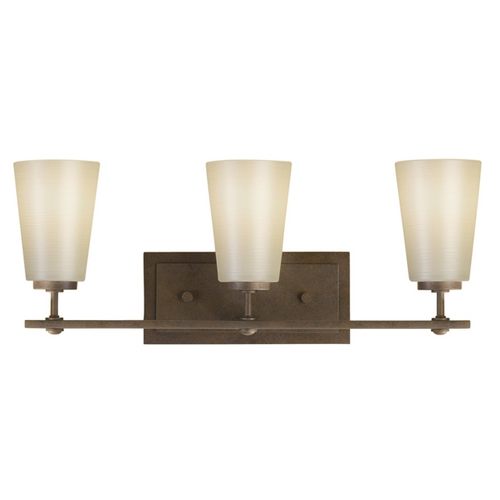 Feiss Lighting Modern Bathroom Light with White Glass in Corinthian Bronze Finish VS14903-CB