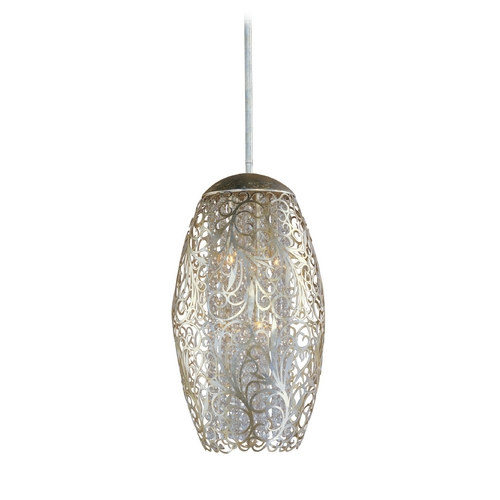 Maxim Lighting Modern Pendant Light in Golden Silver Finish 24151BCGS