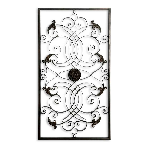 Uttermost Lighting Wall Art in Aged Black / Chestnut Brown Finish 07527