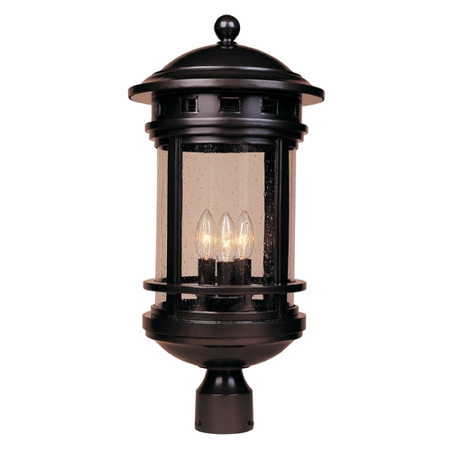 Designers Fountain Lighting Post Light with Clear Glass in Oil Rubbed Bronze Finish 2396-ORB