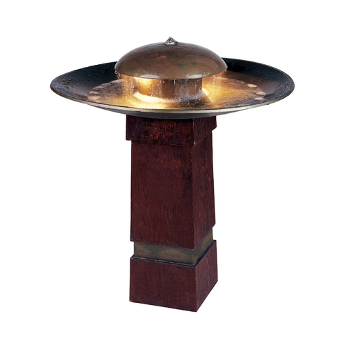 Kenroy Home Lighting LED Outdoor Fountain in Copper Finish 50720COP