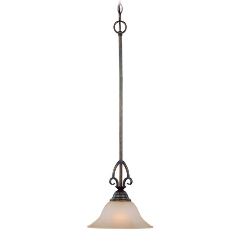 Jeremiah Lighting Jeremiah Gatewick Century Bronze Mini-Pendant Light with Bell Shade 26021-CB