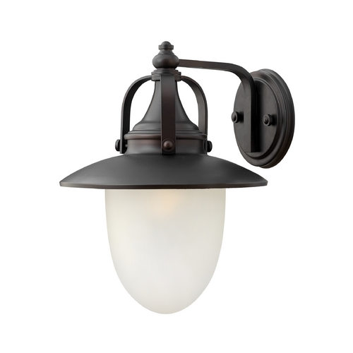 Hinkley Lighting Outdoor Wall Light with White Glass in Spanish Bronze Finish 2084SB