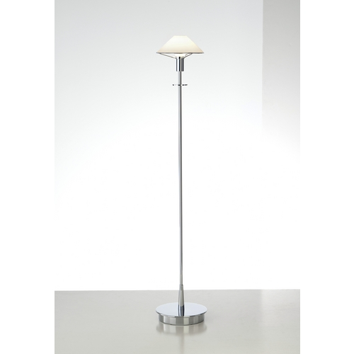 Holtkoetter Lighting Holtkoetter Modern Floor Lamp with White Glass in Chrome Finish 6515 CH TRW