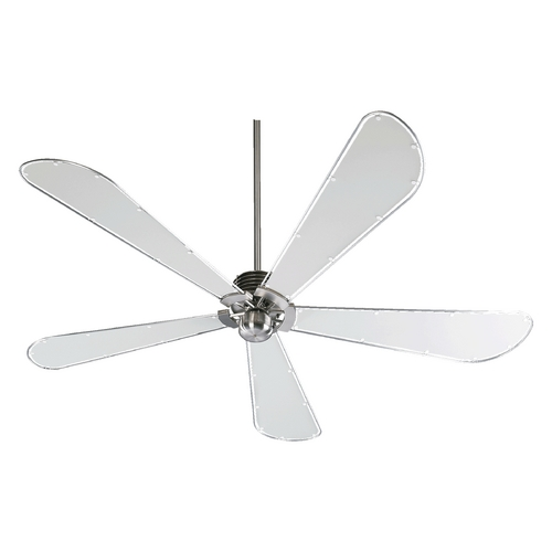 Quorum Lighting Quorum Lighting Dragonfly Satin Nickel Ceiling Fan Without Light 59725-65