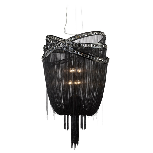 Avenue Lighting Avenue Lighting Wilshire Blvd Polished Black Chrome Pendant Light HF1609-BLK