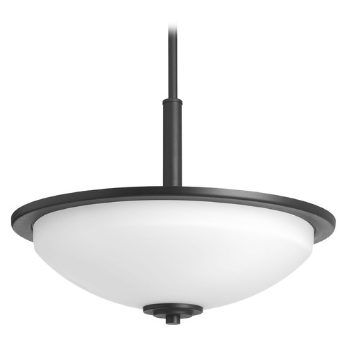 Progress Lighting Progress Lighting Replay Black Pendant Light with Bowl / Dome Shade P3450-31