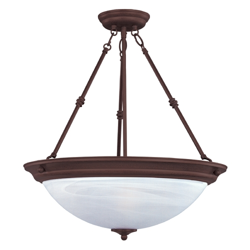 Maxim Lighting Maxim Lighting Essentials Oil Rubbed Bronze Pendant Light with Bowl / Dome Shade 5845MROI