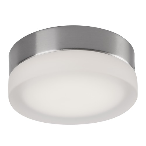 Kuzco Lighting Modern Brushed Nickel LED Flushmount Light with Frosted Shade 3000K 460LM FM3506-BN