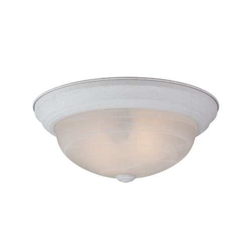 Quoizel Lighting Flushmount Light with Alabaster Glass in Fresco Finish MNR1611W