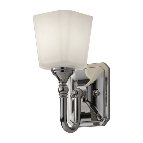 Feiss Lighting Sconce with White Glass in Polished Nickel Finish VS19701-PN