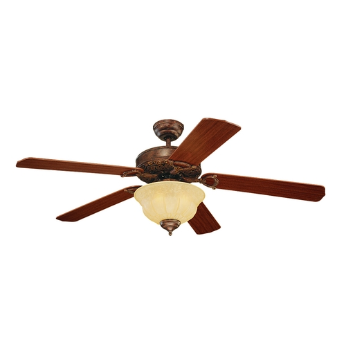 Monte Carlo Fans Ceiling Fan with Light in Bronze / Tea Stain Mission Finish 5OR52TBD-L