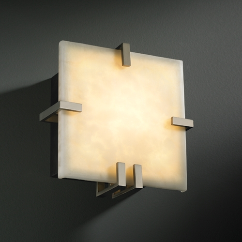 Justice Design Group Justice Design Group Clouds Collection Sconce CLD-5550-NCKL