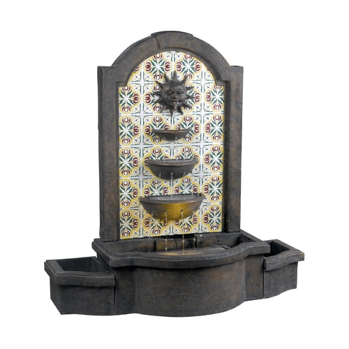 Kenroy Home Lighting Fountain in Madrid Finish with Patterned Tile Motif Finish 50721MD